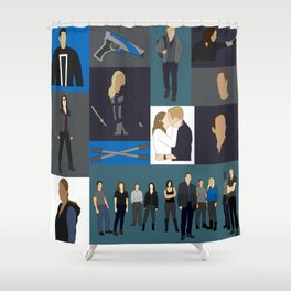 Agents of SHIELD - Minmalist Shower Curtain