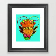 Food Face Framed Art Print