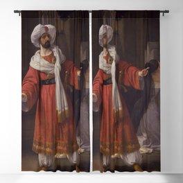 Francesco Hayez - Portrait of Giovanni David as Alessandro in Pacini's Gli arabi nelle Gallie Blackout Curtain