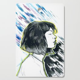 Girl Profil Drawing Cutting Board
