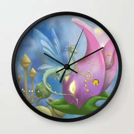 Dragonfly Time Wall Clock