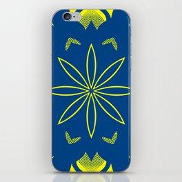 Maize & Blue Floral Mandala iPhone Skin