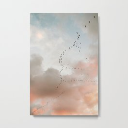 Birds of Paradise | Nosara Costa Rica Sunset Fine art photography print | Travel vibes Metal Print