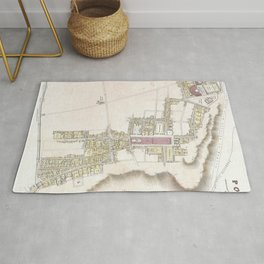 Vintage Map of Pompeii Italy (1832) Rug