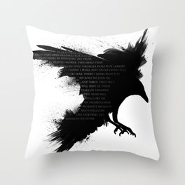 I Welcome The Valkyries Throw Pillow