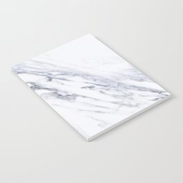 White Marble with Classic Black Veins Notebook