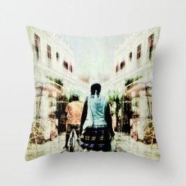 Cuba Street Stroll Throw Pillow