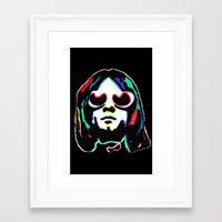 kurt rahn Framed Art Prints featuring Kurt   by Butt Ugly Co