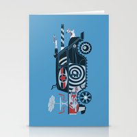 tank girl Stationery Cards featuring Vantastic Tank Girl by Brandon Ortwein