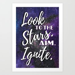 Look to the Stars - Geekerella Art Print