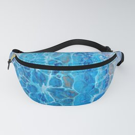 Sunlit Ripples - Abstract Acrylic Art by Fluid Nature Fanny Pack