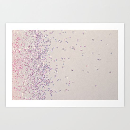 My Favorite Color (NOT REAL GLITTER - photo) Art Print
