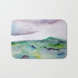 """337"" abstract watercolor landscape Bath Mat"
