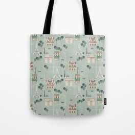 Paris Map Print Illustration Tote Bag