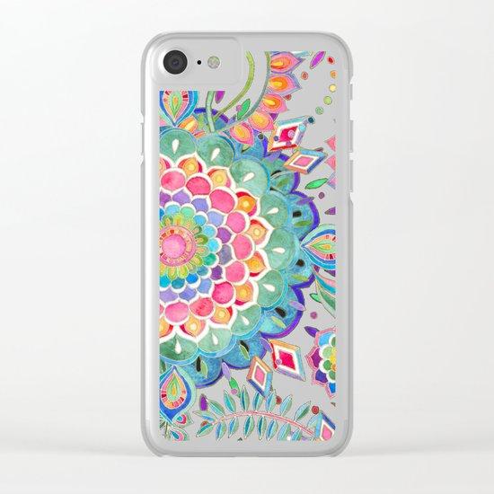 Color Celebration Mandala Clear iPhone Case