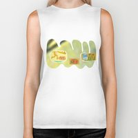 tequila Biker Tanks featuring tequila genius by Peter Thompson