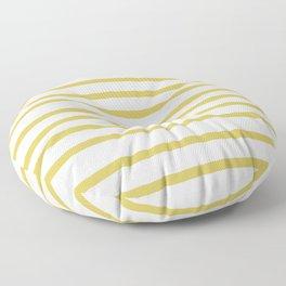 Simply Drawn Stripes Mod Yellow on White Floor Pillow