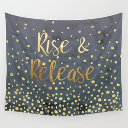 Rise and Release Yoga Meditation Wall Tapestry