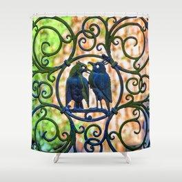 Bird Gate Shower Curtain