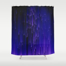 Meteor Shower Shower Curtain
