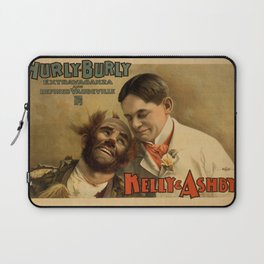 Vintage poster - Hurly Burly Extravaganza and Refined Vaudeville Laptop Sleeve