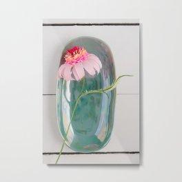 Paper flower echinacea  Metal Print