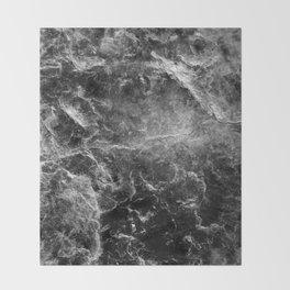 Enigmatic Black Marble #1 #decor #art #society6 Throw Blanket