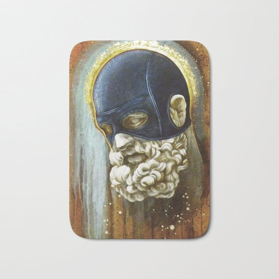 """Masked Hercules"" Bath Mat"