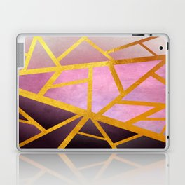 Textured Pink Geometric Gradient With Gold Laptop & iPad Skin