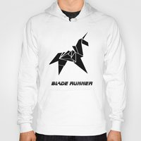 blade runner Hoodies featuring Blade Runner - Rachel's Origami by Thecansone