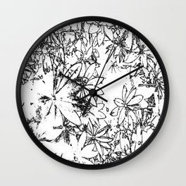 Lupin Leaves (sketch) Wall Clock