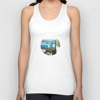 jeep Tank Tops featuring Jeep Scrambler Summer by Leslee Mitchell