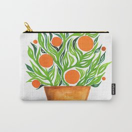 Watercolor Orange Tree Carry-All Pouch