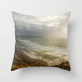 Nature photography. Barrika Beach, Basque Country. Spain. Throw Pillow