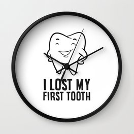 I Lost My First Tooth Children Wiggly Tooth Wall Clock