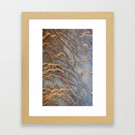 Travertine - blue gray Framed Art Print