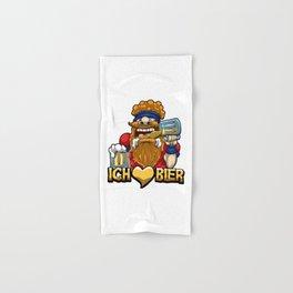 Ich liebe Bier - Brauerei Oktoberfest Saufen Alk Hand & Bath Towel