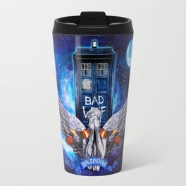 The Angel with Tardis Doctor who iPhone 4 4s 5 5c 6, pillow case, mugs and tshirt Travel Mug