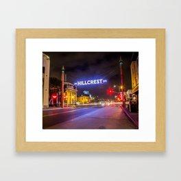 Hillcrest (San Diego) Sign - SD Signs Series #3 Framed Art Print