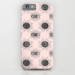 Eye of wisdom pattern - Pink & Black - Mix & Match with Simplicity of Life iPhone Case