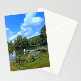 At the fairytale pond | waterscape photography Stationery Cards