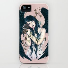 Wither Gothic Angel Of Decay iPhone Case