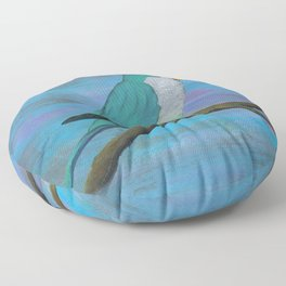 Cuddly blue quaker parrot Floor Pillow