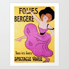 Folies Bergere - Vintage ad reboot Art Print