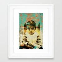boy Framed Art Prints featuring Boy by Lia Bernini