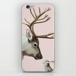 Reindeer and rabbit iPhone Skin