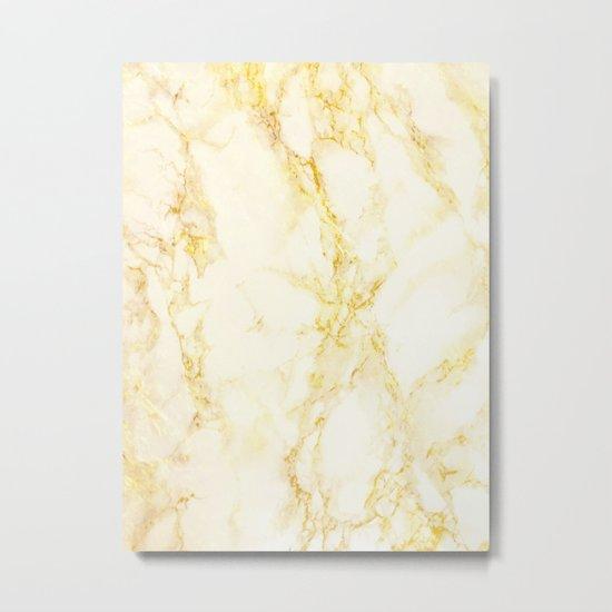 Golden Marble #society6 #decor #lifestyle #fashion Metal Print