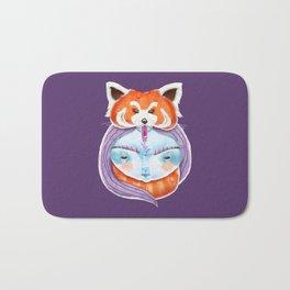 Huriyah & Red Panda Bath Mat