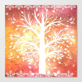 Orange Suprise Batik Canvas Print