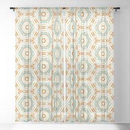 geo hex modern pattern Sheer Curtain